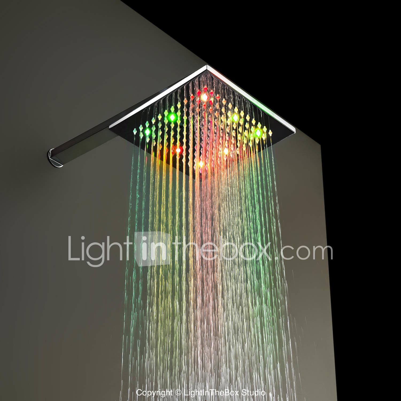 Copper Led Luminous Shower Rain Shower Head 383195 2019 65 99