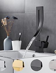 black waterfall bathroom faucet