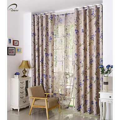 Rod Pocket Grommet Top Tab Top Double Pleat Pencil Pleat One Panel Curtain Country Modern