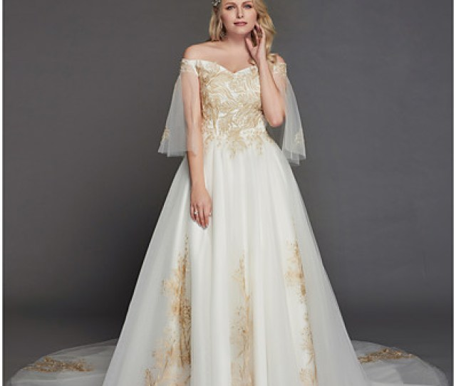 2b15369e137f Ador Princess Off Shoulder Chapel Train Tulle Made To Measure Wedding  Dresses With Appliques Lace By