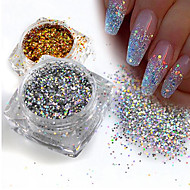 1g Bottle Fashion Geous Gold Silver Diy Sparkling Paillette Mini Hexagon Shape Laser Shining