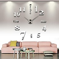 Cheap Home Decor Online   Home Decor for 2018 Modern   Contemporary Stainless Steel Round Indoor AA Wall Clock