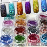 17bottles Set 0 2g Bottle Fashion Geous Style Colorful Shining Diy Charm Pigment Decoration