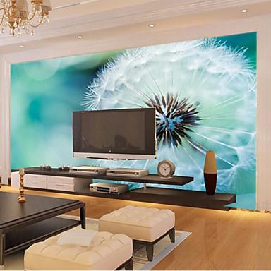 Grand 3d Papier Peint Murale Simple Pissenlit Blanc Fond