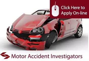 motor accident investigators liability insurance