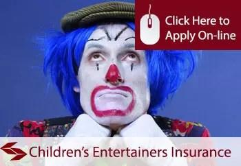childrens entertainers public liability insurance