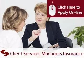 client services managers public liability insurance