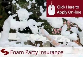 foam parties organisers public liability insurance