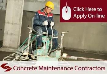 concrete maintenance contractors liability insurance