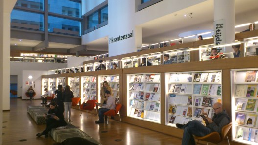 Inside the Public Library, Amsterdam. Another view of the Magazines section.
