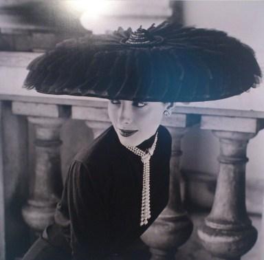 Model wearing a Legroux Soeurs Hat, Vogue 1952