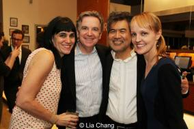 Leigh Silverman, James Houghton, David Henry Hwang and Beth Whitaker at the opening night party of Kung Fu at The Pershing Square Signature Center in New York on February 24, 2014. Photo by Lia Chang