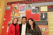 Bruce Lee's widow, Linda Lee Cadwell, David Henry Hwang and Bruce's daughter, Shannon Lee at the opening night party of 'Kung Fu' at Signature Theatre in New York on Februrary 24, 2014. Photo by Lia Chang