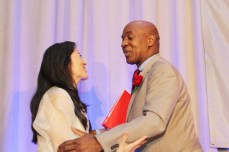 Mari Matsuda and Charles Ogletree, Jr. Photo by Lia Chang