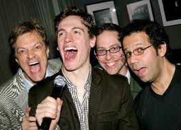 Jim Caruso, Eric Bergen, Garth Kravits and Rene Ruiz at Jim Caruso's Cast Party at Birdland in New York in 2005.