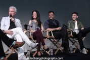 Here Lies Love creator David Byrne, his stars Jaygee Macapugay, Jose Llana and Conrad Ricamora at the Here Lies Love Apple Store Soho Event in New York on October 25, 2014. Photo by Lia Chang