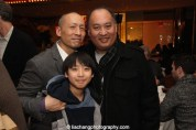 Francis Jue, Kung Fu cast member Bradley Fong and his father. Photo by Lia Chang