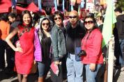 Lia Chang, Asia Flores, Thel Wong, Russell Chang and Marissa Chang-Flores in San Francisco Chinatown on January 27, 2014. Photo by Carlos Flores