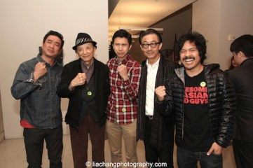 Awesome Asian Bad Guys Milton Liu, James Hong, Stephen Dypiangco, George Cheung and Patrick Epino at JANM's Tateuchi Democracy Forum in LA on April 8, 2015. Photo by Lia Chang