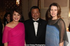 Yue Sai Kan, Karen Chiao and Dr. Leroy Chiao attend the China Institute's Blue Cloud Gala at Gotham Hall in New York on May 29, 2015. Photo by Lia Chang