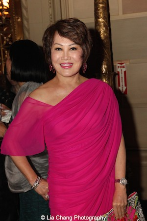 Yue Sai Kan attends the China Institute's Blue Cloud Gala at Gotham Hall in New York on May 29, 2015. Photo by Lia Chang