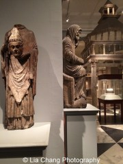 Saint Firmin Holding His Head Limestone and paint French, Amiens Carved and painted about 1225-75 at The Metropolitan Museum of Art. Photo by Lia Chang #emptymet