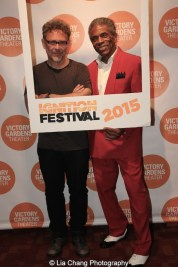 Jose Rivera and André De Shields at the opening night party of Victory Gardens Theater's 2015 IGNITION Festival of New Plays in Chicago on July 16, 2015. Photo by Lia Chang