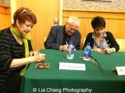 Donna McKechnie, John Kander and Chita Rivera attend the 'The Visit' Broadway cast performance and CD signing at Barnes & Noble, 86th & Lexington on July 9, 2015 in New York City. Photo by Lia Chang