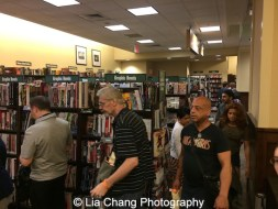 Fans in line at 'The Visit' Broadway cast performance and CD signing at Barnes & Noble, 86th & Lexington on July 9, 2015 in New York City. Photo by Lia Chang