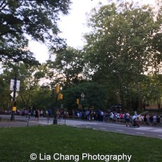 The VIP line for The Wiz is 40 at #summerstage30 stretched down Central Park in New York on August 12, 2015. Photo by Lia Chang