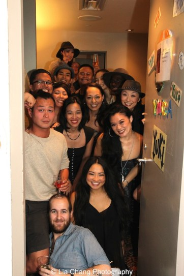 Cast members of The King and I backstage at the Vivian Beaumont Theater after The Actors Fund Special Performance of The King and I on September 20, 2015.