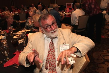 LVHS Class of 1960 alumnus Joe Kimmel attends the 2015 37th Anniversary - Annual Wildcat Reunion at The Orleans Hotel and Casino in Las Vegas, NV on September 26, 2015. Photo by Lia Chang