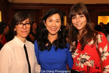 Alison B. Russo, Director, Artist Protection Fund, Institute of International Education, Dr. Agnes Hsu-Tang and Danielle Frid Rossi, Program Officer, Artist Protection Fund, Institute of International Education, attend the inaugural reception for The Tang Center for Early China in the Low Library at Columbia University on October 2, 2015. Photo by Lia Chang