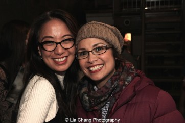 Jaygee Macapugay and Lea Salonga at the Longacre Theatre in New York after the first preview of ALLEGIANCE on October 6, 2015. Photo by Lia Chang