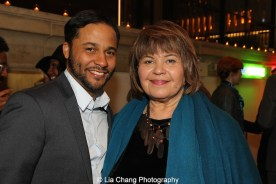 Jason Dirden and Michele Shay attend the 2015 Steinberg Playwright Awards on November 16, 2015 in New York City. Photo by Lia Chang