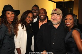 Sade Lythcott, Kamilah Forbes, Kwame Kwei-Armah, Ty Jones and Stephen McKinley Henderson and a guest attend the 2015 Steinberg Playwright Awards on November 16, 2015 in New York City. Photo by Lia Chang