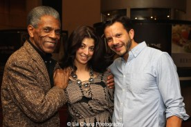 André De Shields, Paula Caselton and Nick Kenkel at 'On Your Feet!' at the Marquis Theatre in New York on November 4, 2015. Photo by Lia Chang
