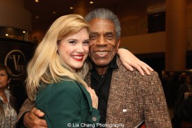 Holly Butler and André De Shields at 'On Your Feet!' at the Marquis Theatre in New York on November 4, 2015. Photo by Lia Chang