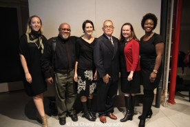 Lauren Shadford Breismeister, Executive Director of Voices in Contemporary Art ( VoCA), artist Juan Sanchez, artist and Legacy Specialist Beth Krebs, artist Arlan Huang, Robin Clark, VoCA Board member & Director of the Artist Initiative at SFMOMA, Shervone Neckles-Ortiz, Joan Mitchell Center Artist Support Manager. Photo by Lia Chang