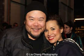 Stafford Arima and Lea Salonga at the Longacre Theatre in New York on February 13, 2016. Photo by Lia Chang