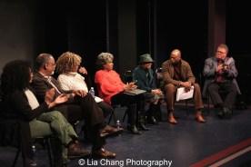 Julia Lema, William Foster McDaniel, Leslie Dockery, Tina Fabrique, Micki Grant, Erich McMillan-McCall and James Morgan. Photo by Lia Chang