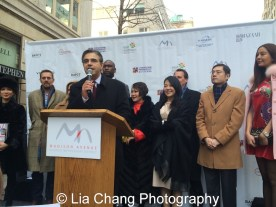 """Matthew Bauer, President, Madison Avenue BID at """"Madison Street to Madison Avenue"""" Lunar New Year Celebration on Feb. 6, 2016 in New York City. Photo by Lia Chang"""