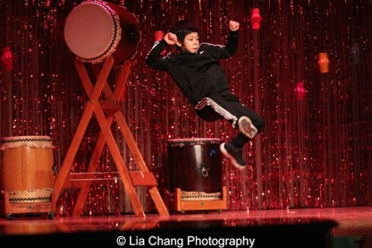 Kai Rivera (12 years old) at the P.S. 87 Pan Asian Lunar New Year Celebration at the William T Sherman School in New York on January 29, 2016. Photo by Lia Chang