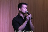 """Telly Leung sings """"With You"""" to celebrate the release of the ALLEGIANCE Original Cast recording at the Barnes and Noble CD Signing event in New York on Feb. 5, 2016. Photo by Lia Chang"""