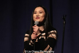 """Yoonjeong Seong sings """"Tonight"""" from """"West Side Story"""" in English and Korean at the P.S. 87 Pan Asian Lunar New Year Celebration at the William T Sherman School in New York on January 29, 2016. Photo by Lia Chang"""