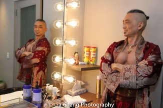 Paul Nakauchi backstage at the Vivian Beaumont Theater in New York on Mar. 5, 2016. Photo by Lia Chang