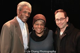 André De Shields, Tina Fabrique and Garth Kravits. Photo by Lia Chang