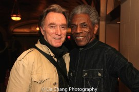 Michael Medeiros and André De Shields. Photo by Lia Chang