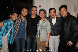 Aaron J. Albano, Billy Bustamante, Jose Llana, Emilio Ramos, Conrad Ricamora and Kelvin Moon Loh. Photo by Lia Chang