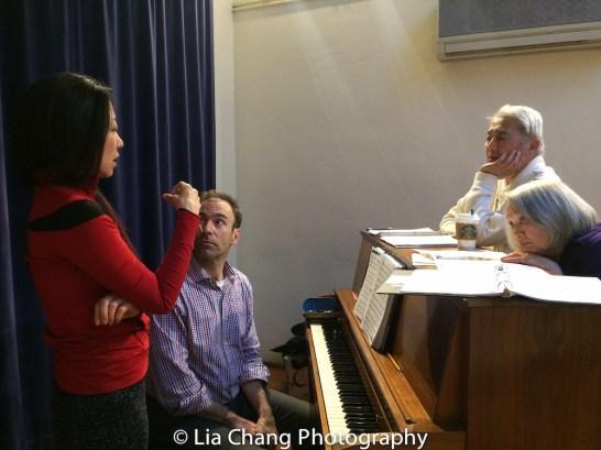 Director Lainie Sakakura, Thomas Conroy, Alvin Ing and Virginia Wing. Photo by Lia Chang